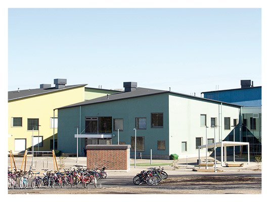 References Aulis Lundell Oy external wall studs communicy centre building, Kokkola