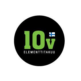 Elementille 10 vuoden takuu