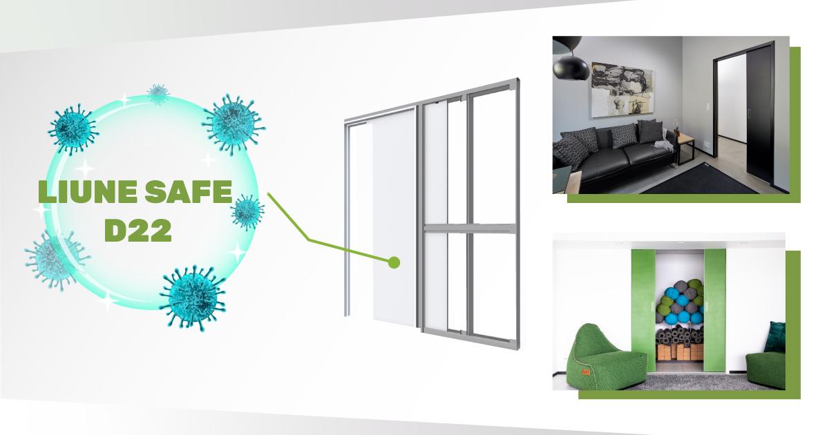 Liune Safe on antimikrobinen liukuovikokonaisuus