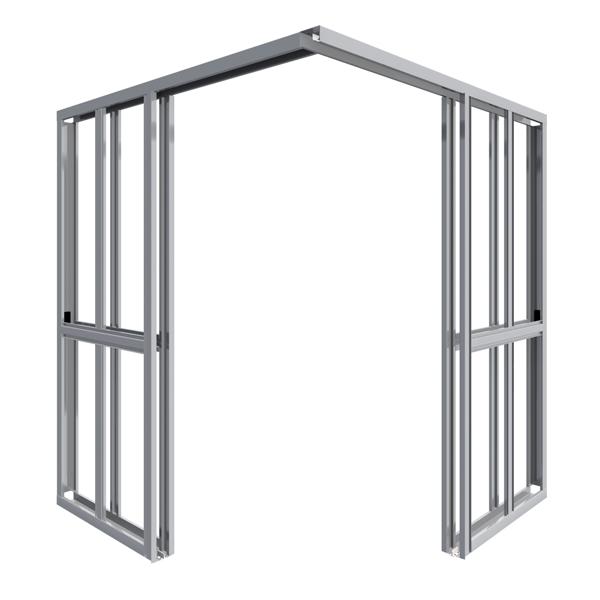 Element for corner doors