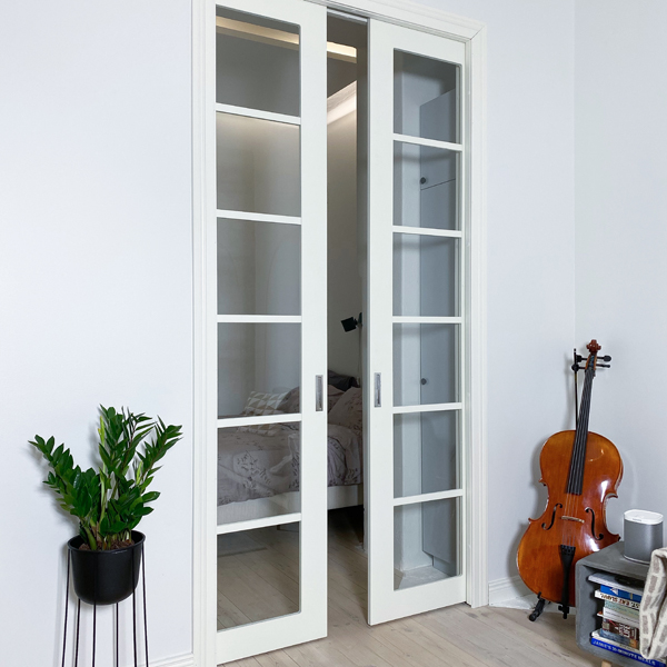 Liune double doors special high door with light openings