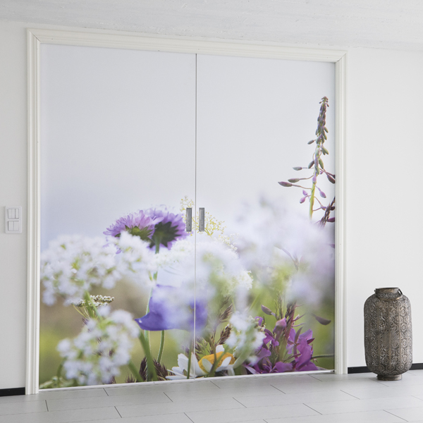 Liune Double doors magnet print picture flowers