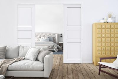 Vardagsrum med Liune dörr